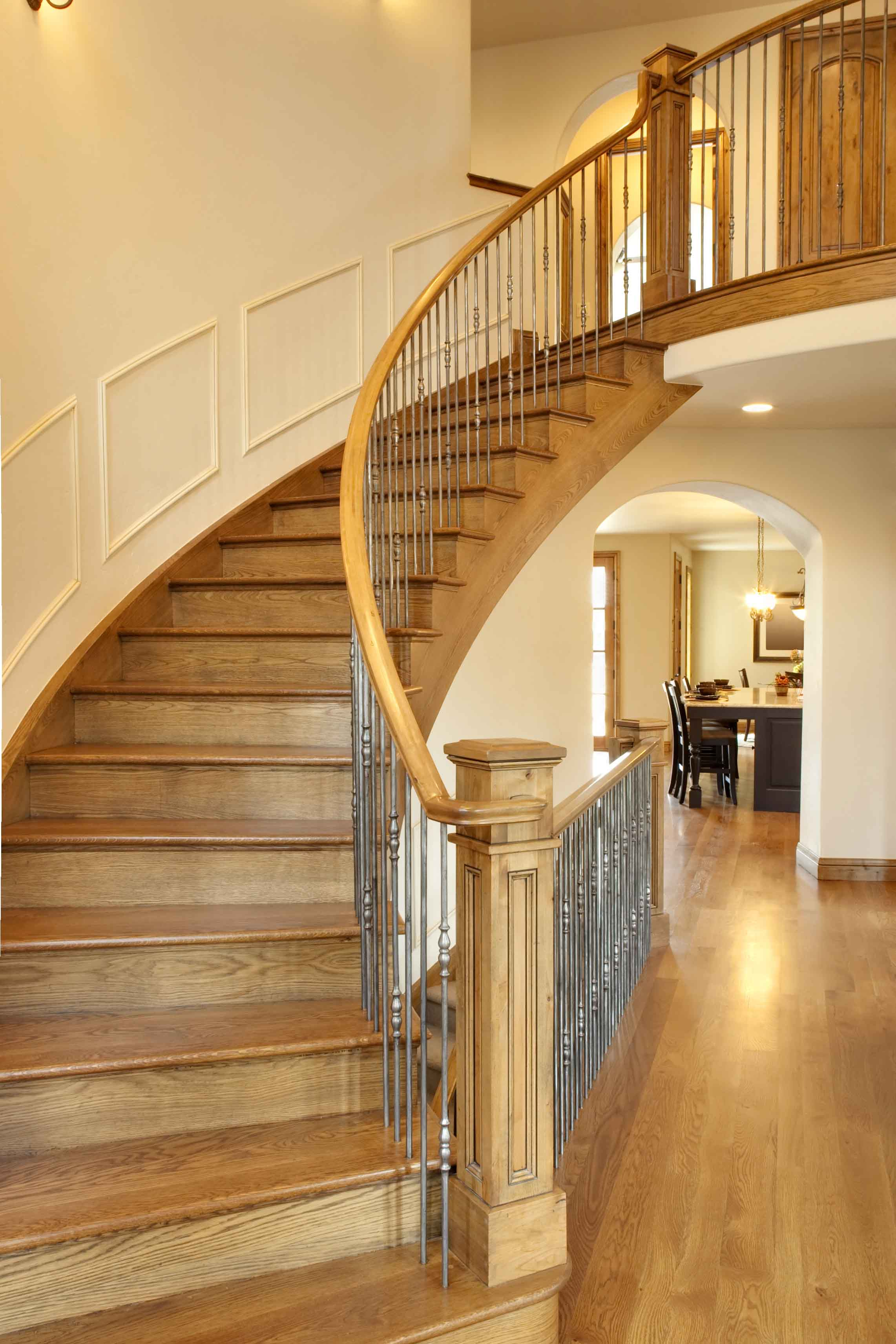 Bespoke architectural joinery northern ireland hawthorne for Curved staircases