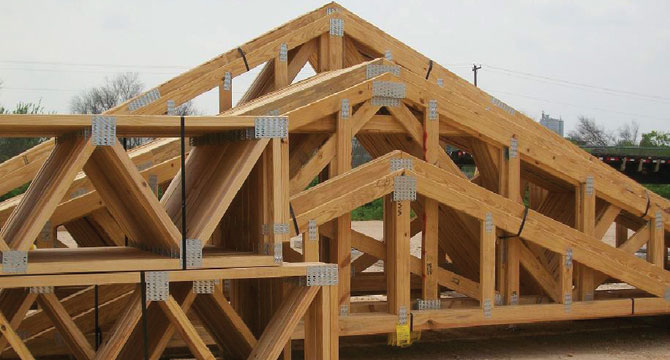 Joinery portfolio northern ireland timber frames roof for Wooden roof trusses prices